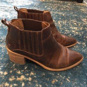 Brown leather madewell bonham booties